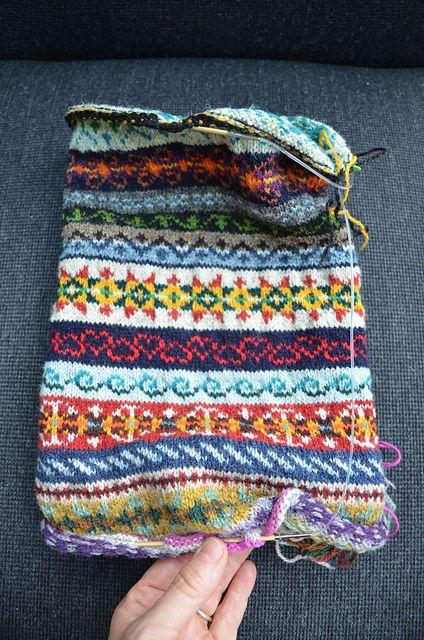 Ravelry: CarlaM's Fair Isle sampler/scarf | Knitty Fair Isle ...