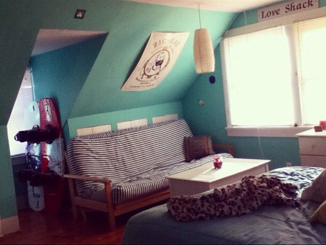 teal futon bedroom boho hippie pretty - Futon Bedroom Ideas
