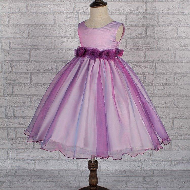 Vestido 20 cores roxo vestidos menina organza crianças vestidos de ...