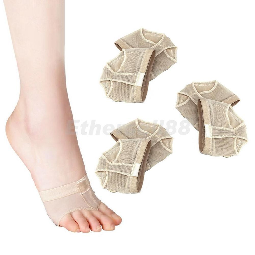 3 Pairs Footful Ballet/Belly Dance Protection 2-Hole Toe Pad Foot Forefoot Socks in Health & Beauty, Health Care, Foot Care   eBay