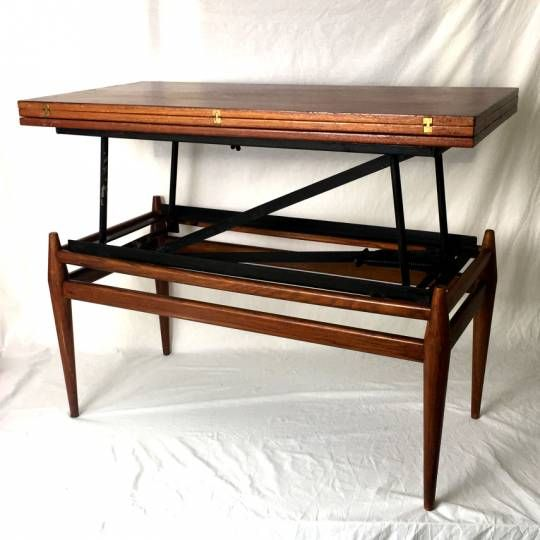 table basse convertible vintage 60 39 s style design pinterest table basse convertible. Black Bedroom Furniture Sets. Home Design Ideas