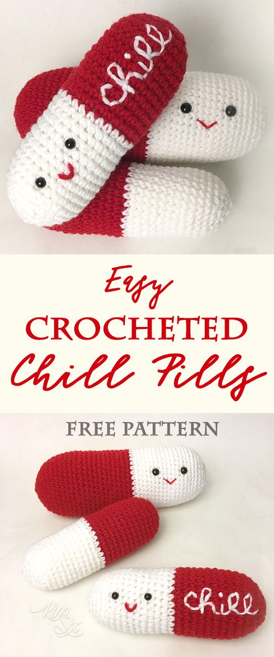 Crocheted Chill Pills Amigurumi Pattern