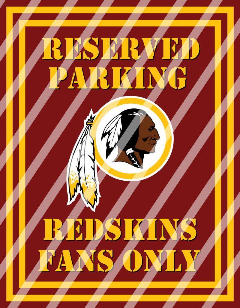 Washington Redskins Parking Wall Decor Sign #1 (instant download,print,framed)