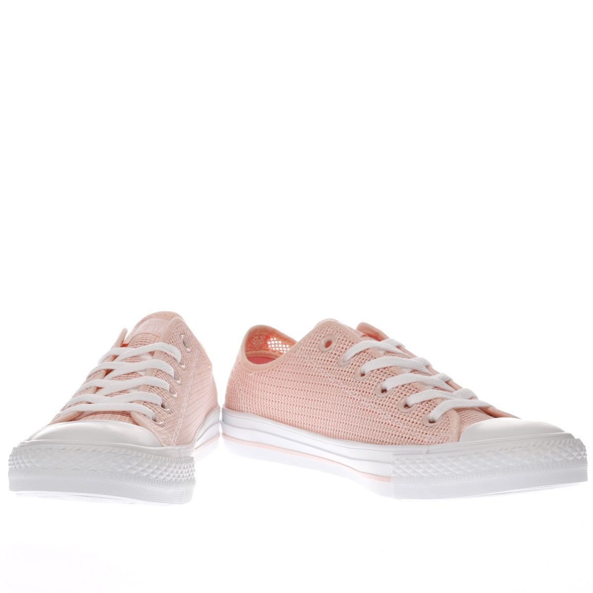 Womens Converse All Star Perforated Ox Trainers Pale Pink