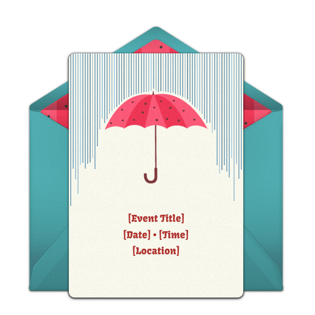 Free Umbrella Invitations Umbrella Online Free Baby Shower
