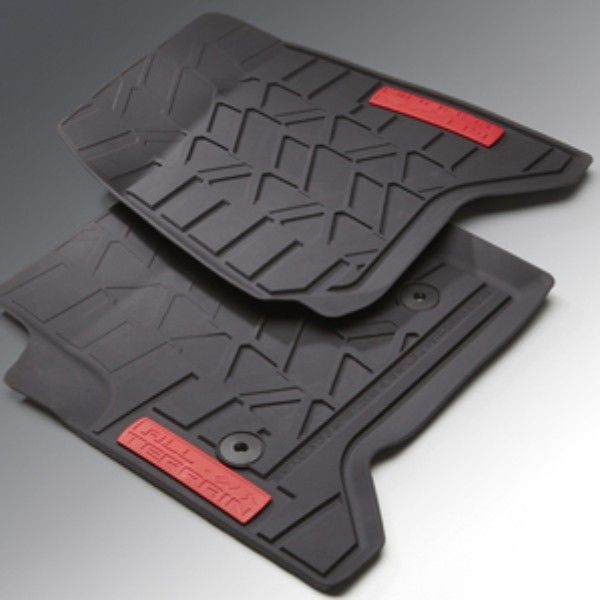 Sierra 2500 Floor Mats Front Premium All Weather Black With All Terrain Logo These Front Premium All Weather Floor Mats Are Sierra 2500 Sierra 1500 Floor Mats