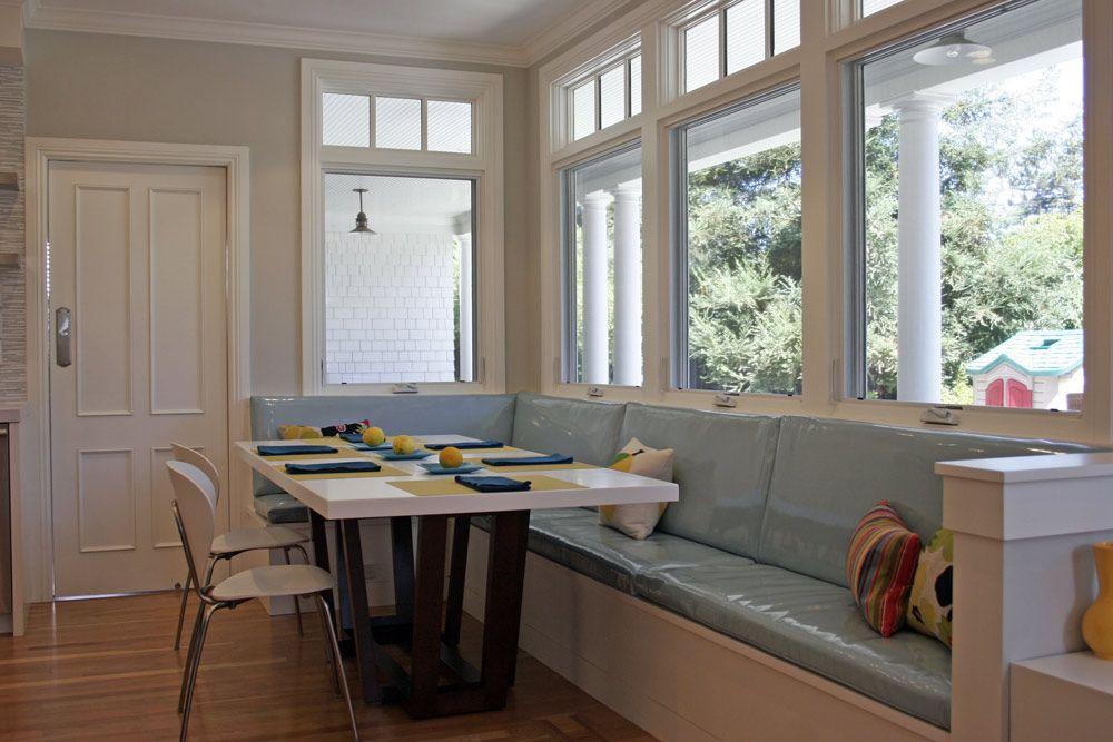 Fiorella Design - Rosenthal - Menlo Park - Mary Jo Fiorella - Interior Designer - San Francisco Bay Area banquette