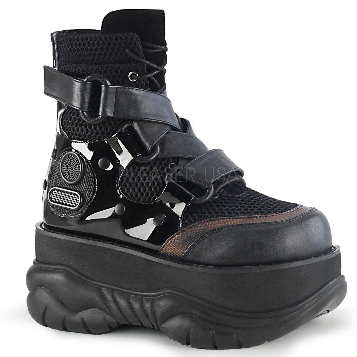 91c898d3a0d BOXER-05 Demonia Black Cyber Platform Shoes