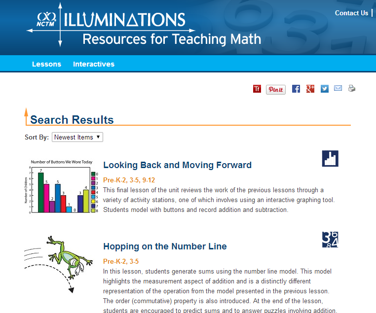 Free resources on the Illuminations math website - this link goes to ...
