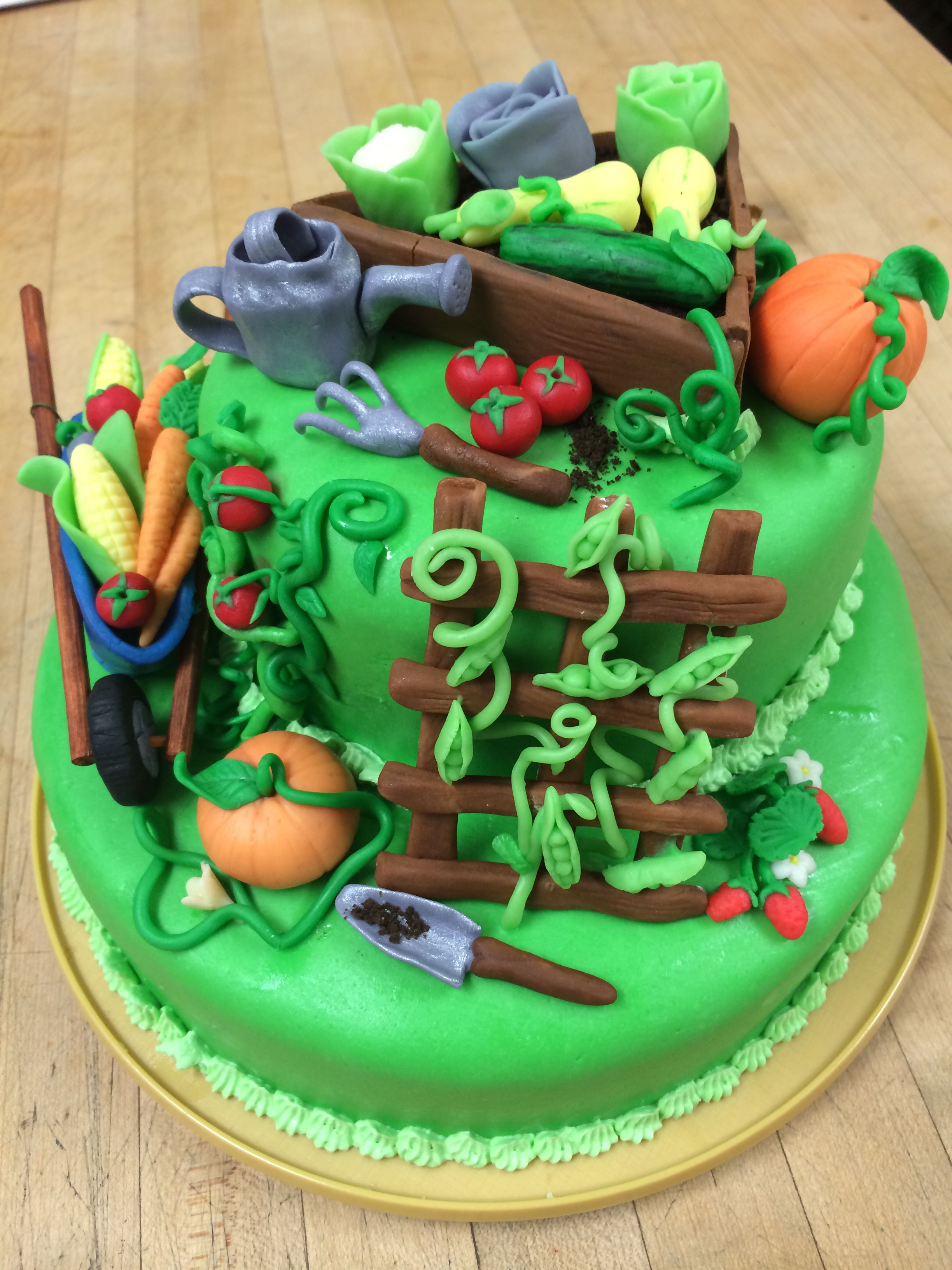 Another view of the Vegetable Garden cake! (With images ...