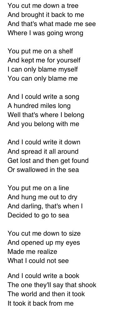 Coldplay Swallowed In The Sea Part 1 Coldplay Music Words Songs