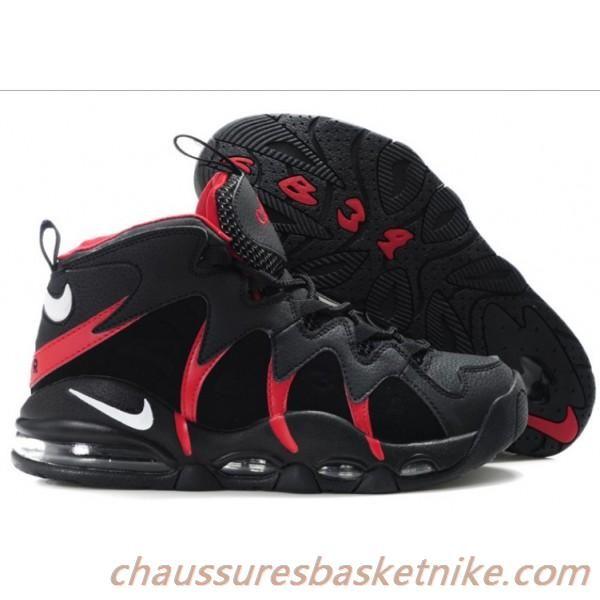 Nike Air Max CB34 Charles Barkley Chaussures Hommes Noir / Rouge / Blanc  Livraison Gratuite