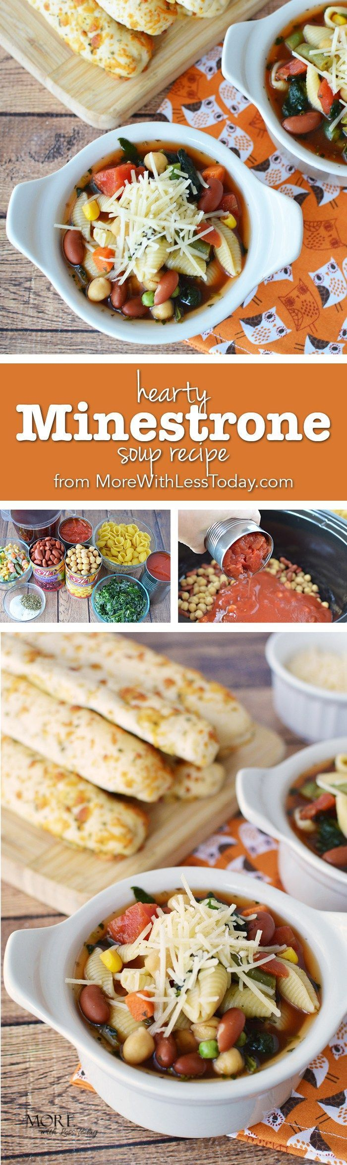 Ad nothing says fall like a bowl of warm soup on a cool night try looking for an easy meatless meal for busy weeknights try this hearty minestrone soup recipe meatless meals with canned beans forumfinder Choice Image
