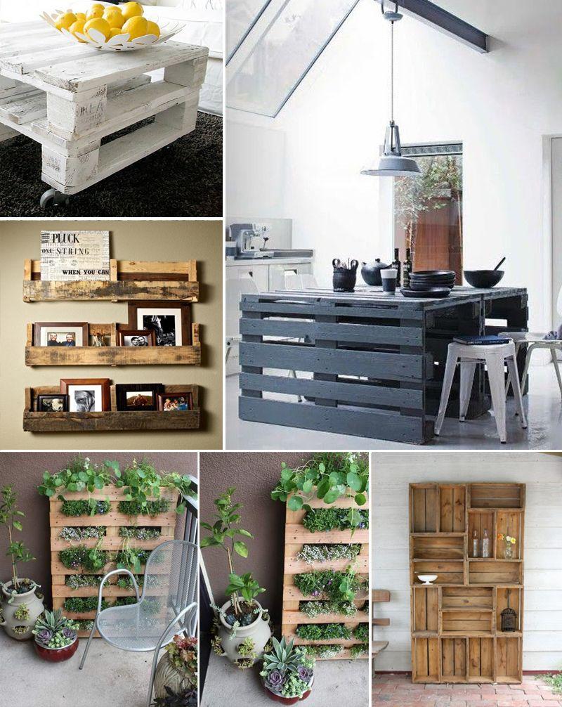 Dy pallets reciclados en muebles recamaras pinterest - Palet reciclado muebles ...