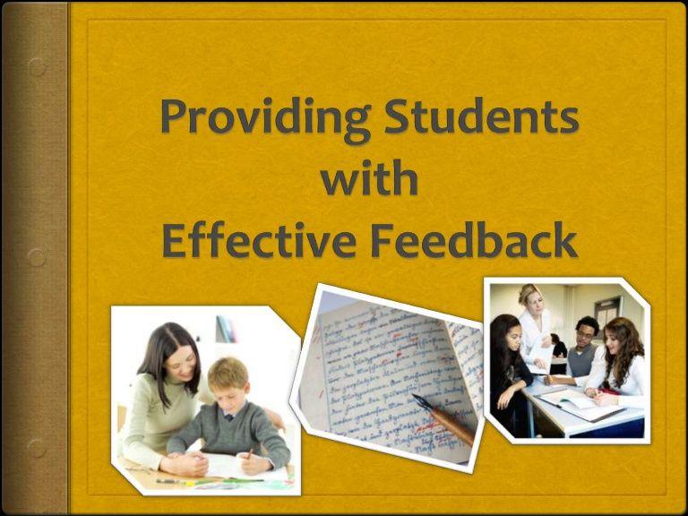 Afl effective feedback effective feedback feedback