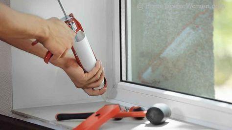 Caulking Windows Inside And Outside Home Tips For Women Caulking Windows Home Maintenance Caulking