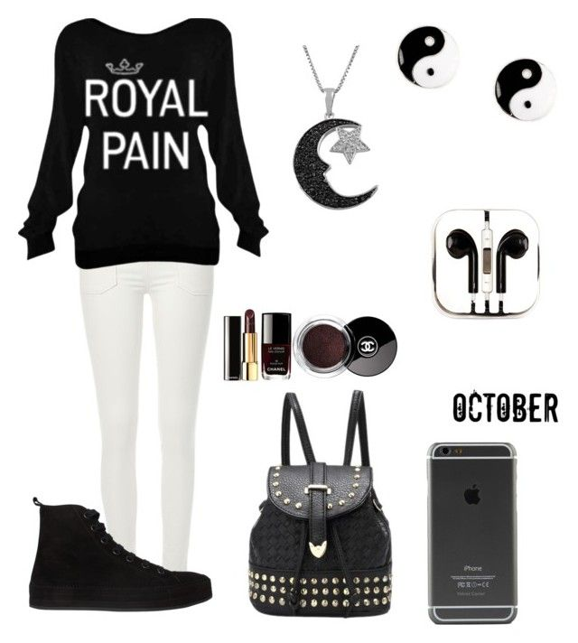 """Royals♕"" by fries4now ❤ liked on Polyvore featuring River Island, Ann Demeulemeester, claire's, Jewel Exclusive, Chanel and PhunkeeTree"