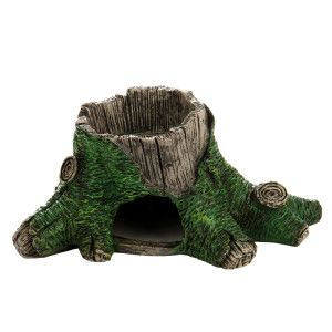 National Geographic Rainforest Stump Reptile Bowl Food Water