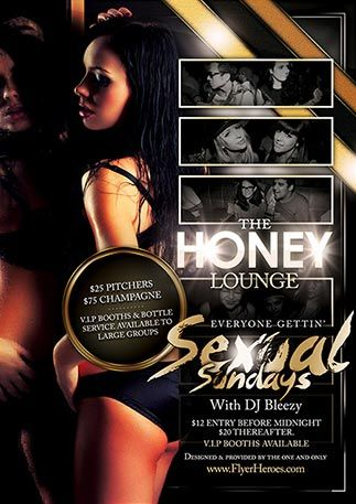 Httpfreepsdflyerfree Honey Lounge Club Flyer Template