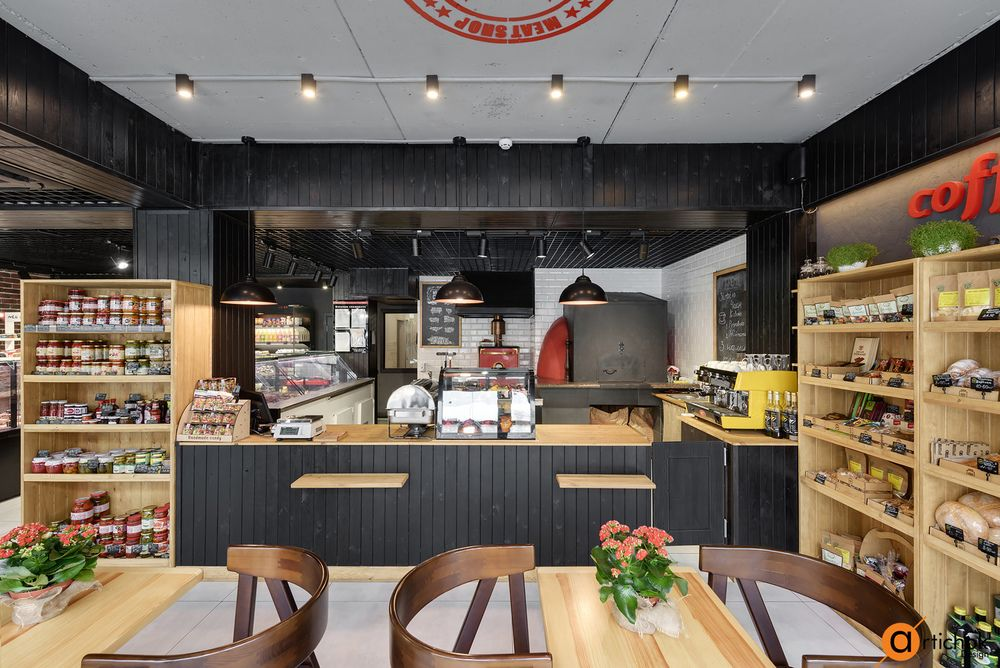 Organic Food Store Decor With Images Coffee Shop Design