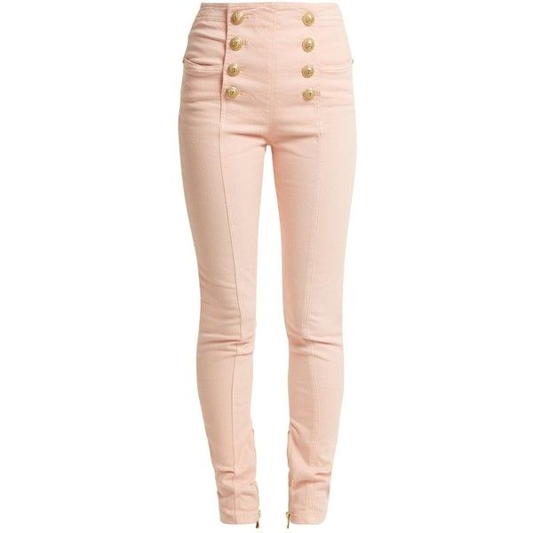 high-waisted skinny jeans - Pink & Purple Balmain Latest For Sale BSuOZLNQ