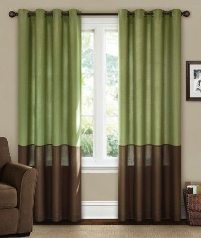 Green And Brown Curtains Canopy Curtains Living Room Energy Efficient Curtains Living Room Green