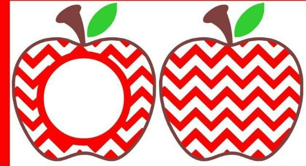 Chevron Apple Monogram Crafts Silhouette Projects Vinyl Projects