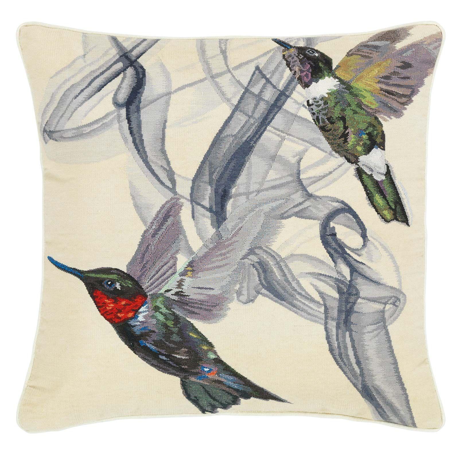 Hummingbird Ivory Cushion By Alexander Mcqueen The Rug Company