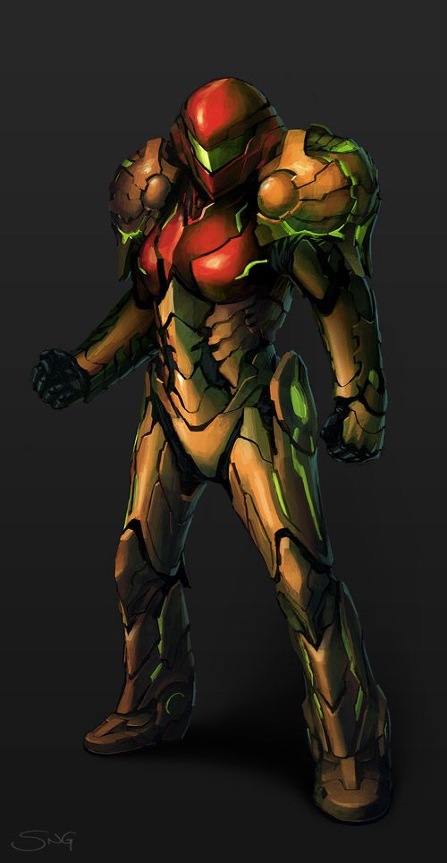 Samus Aran Varia Suit Concept I Like The Re Imagining D