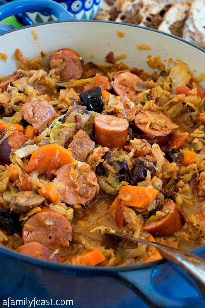 Bigos (Polish Hunter's Stew) - A Family Feast®