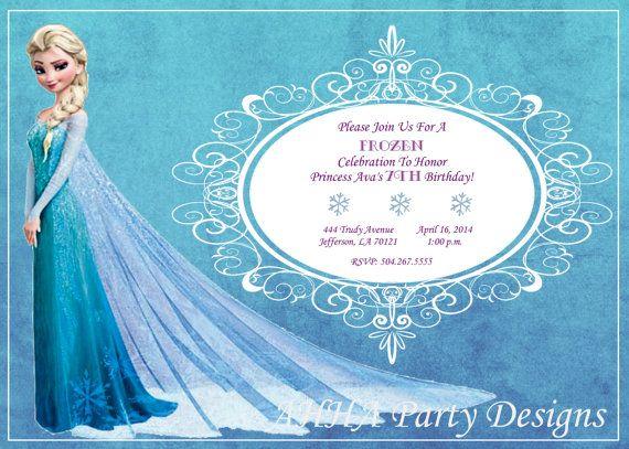 Frozen Invitation u2022 Elsa Birthday Party Invite u2022 Girl Birthday Party - invitation birthday frozen