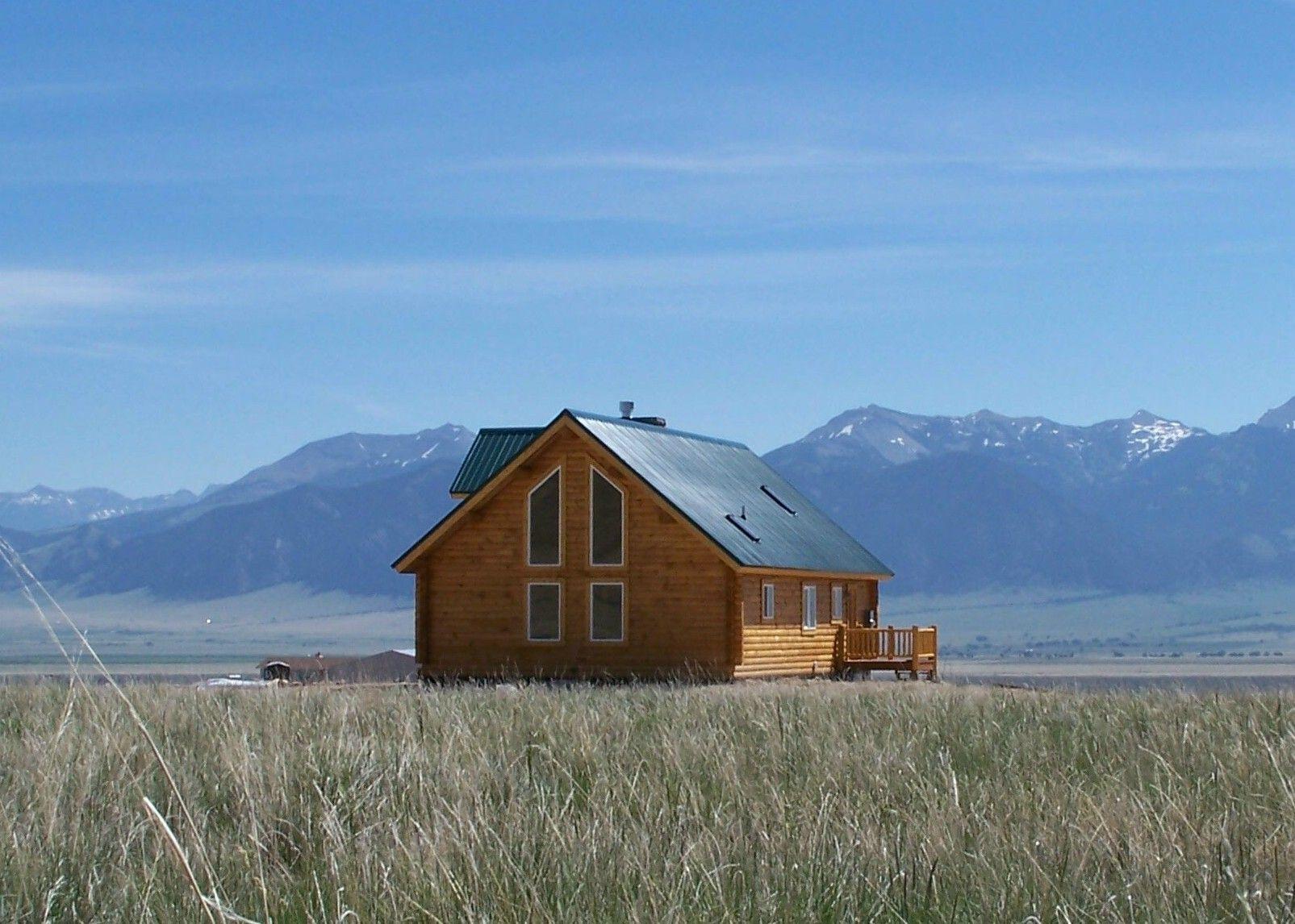 Cowboy Log Homes Cabin 1 Back Gallatin Floor Plan 1890 Sq Ft.