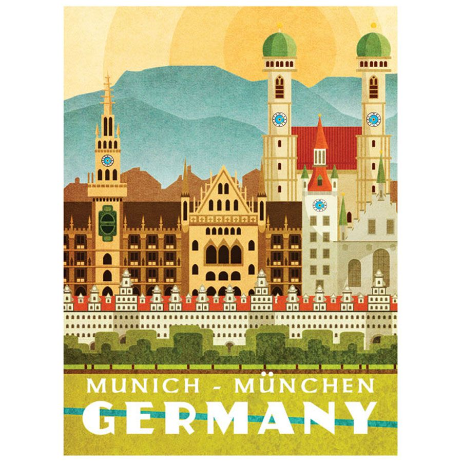 missy ames vintage travel poster germany vintage. Black Bedroom Furniture Sets. Home Design Ideas