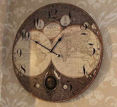 Wooden wall atlas world map globe pendulum clock vintage kitchen wooden wall atlas world map globe pendulum clock vintage kitchen office bedroo view more on the link httpzeppyproductgb2371385524046 gumiabroncs Image collections