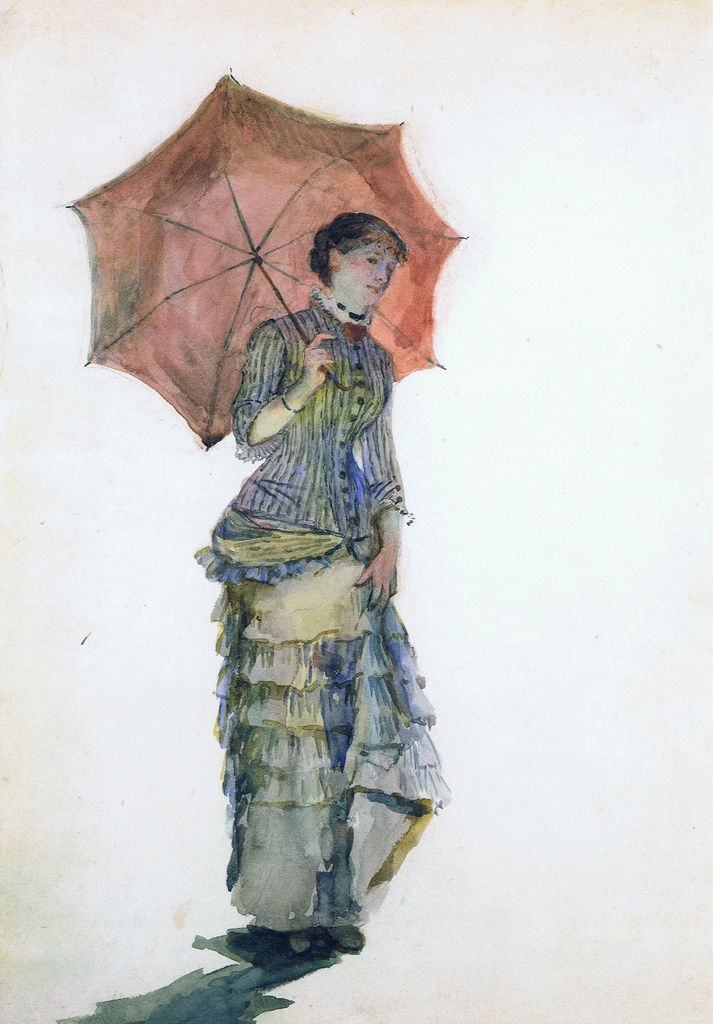 Marie Bracquemond Woman With Parasol 1880 In 2018 Arh 4430 Fall