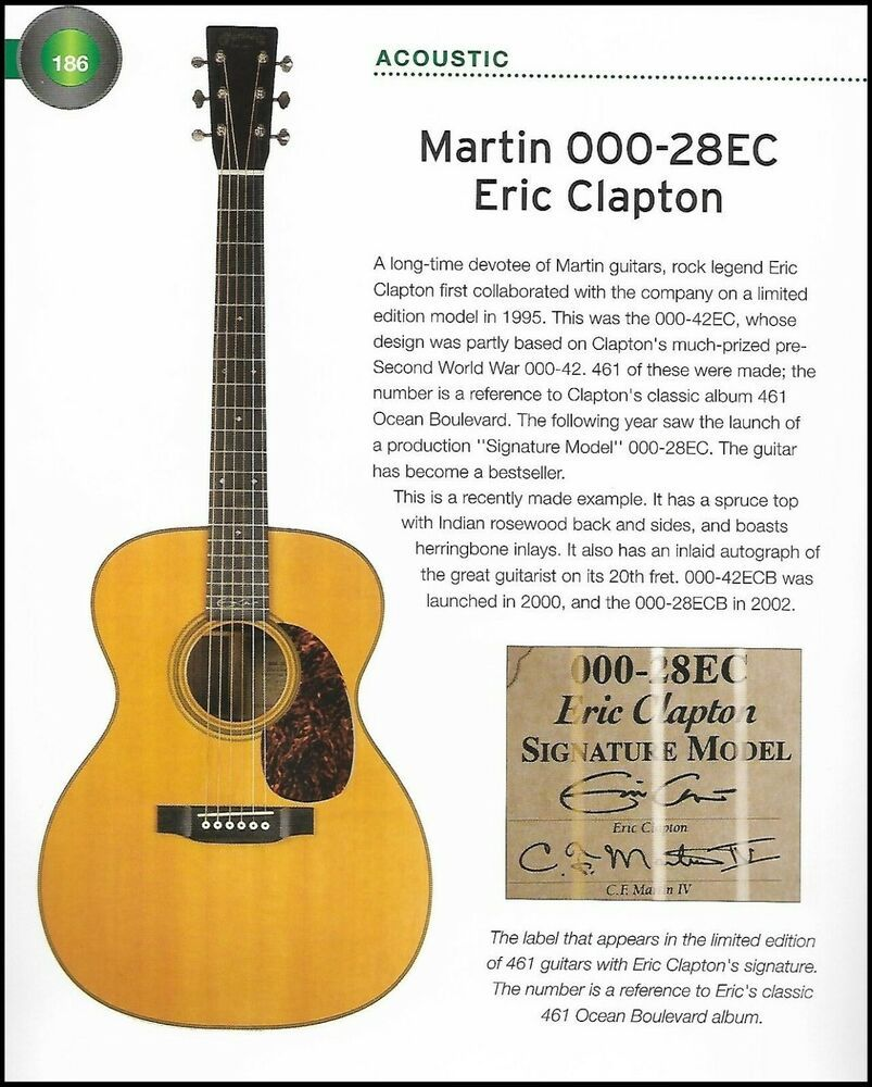 Martin 000 28ec Eric Clapton 000 28ld Lonnie Donegan Guitar History Article Martin Martin Guitar Eric Clapton Martin Acoustic Guitar