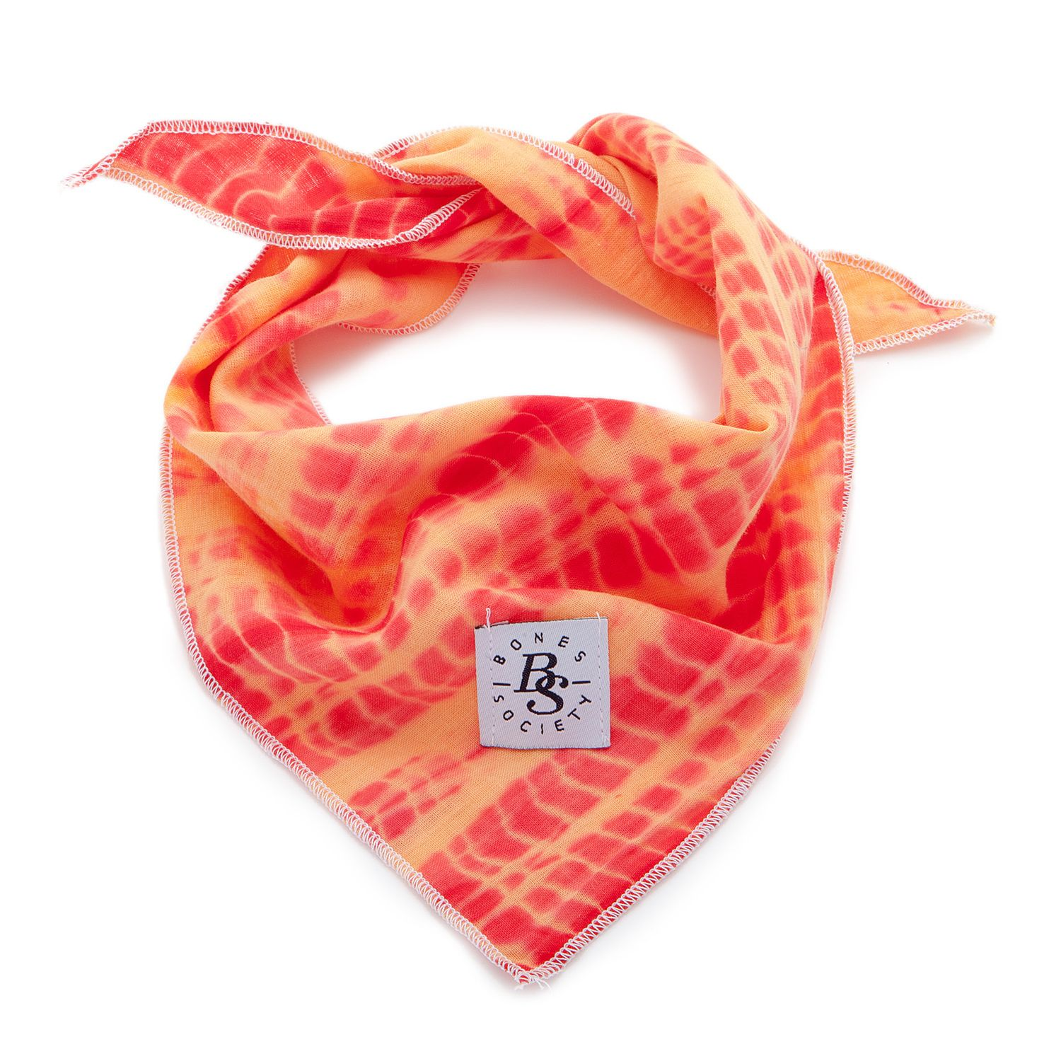 BONES SOCIETY | Kick Arse Bandana in Orange Shibori Tie Dye