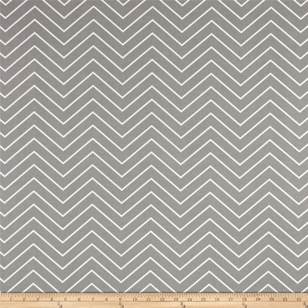 Discount outdoor fabric by the yard - Premier Prints Chevron Indoor Outdoor Light Grey