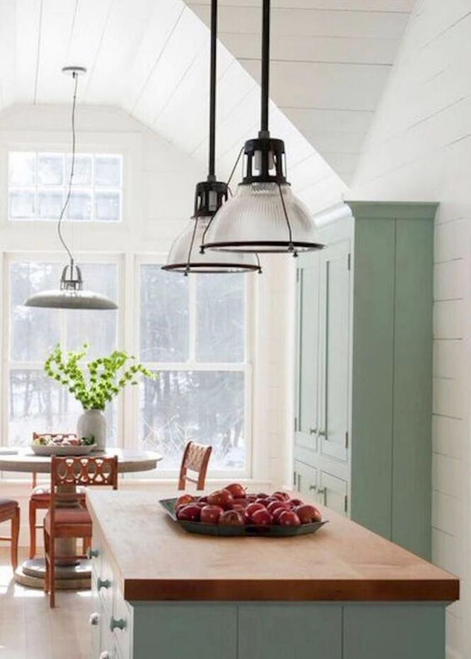 The Design Experts At Hgtv Share Photos Of A Charming Cottage Style Kitchen With Soft Mint Green Cabinets