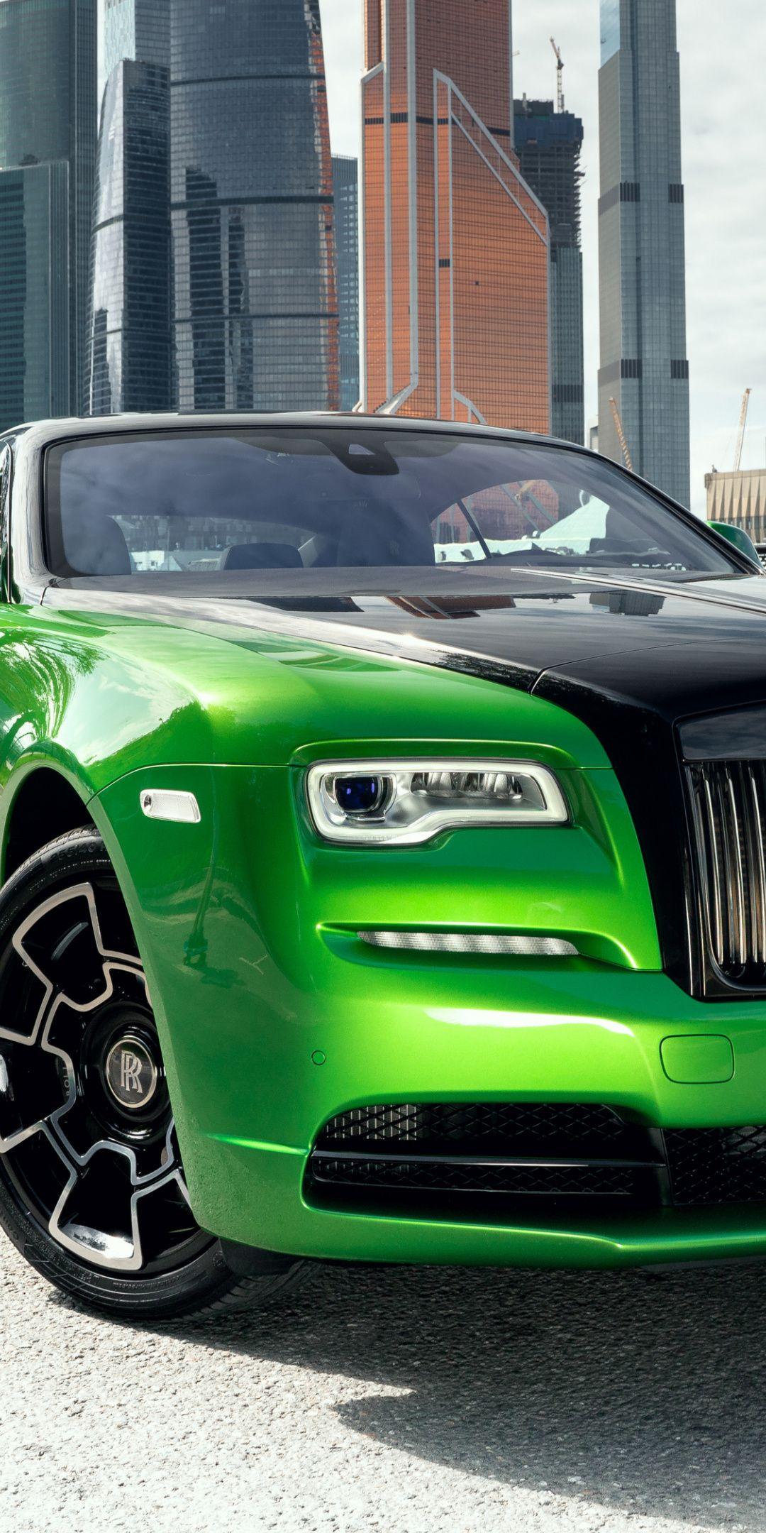 1080x2160 Rolls Royce Wraith Green Black Car 2019 Wallpaper Rolls Royce Wraith Luxury Cars Rolls Royce Rolls Royce [ 2160 x 1080 Pixel ]