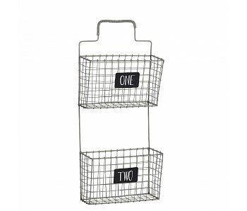 h bsch interior wandkorb mit tafeln metall lillehus store h bsch interior online shop pinterest. Black Bedroom Furniture Sets. Home Design Ideas