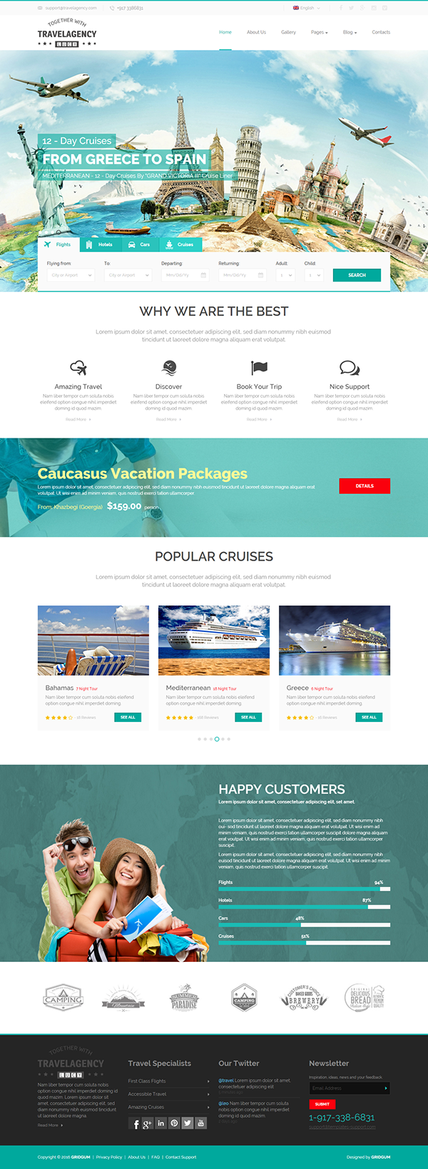 Travel Agency Html Template Website Template 300111901 Download Travel Agency Html Template Travel Agency Website Web Layout Design Travel Website Design