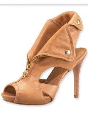 Apricot 4'' High Heel Sheepskin Fashion Ankle Shoes - AHHHHHHH!!!!!!
