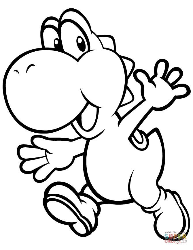 Yoshi Super Coloring In 2020 Dinosaur Coloring Pages Super Mario Coloring Pages Mario Coloring Pages