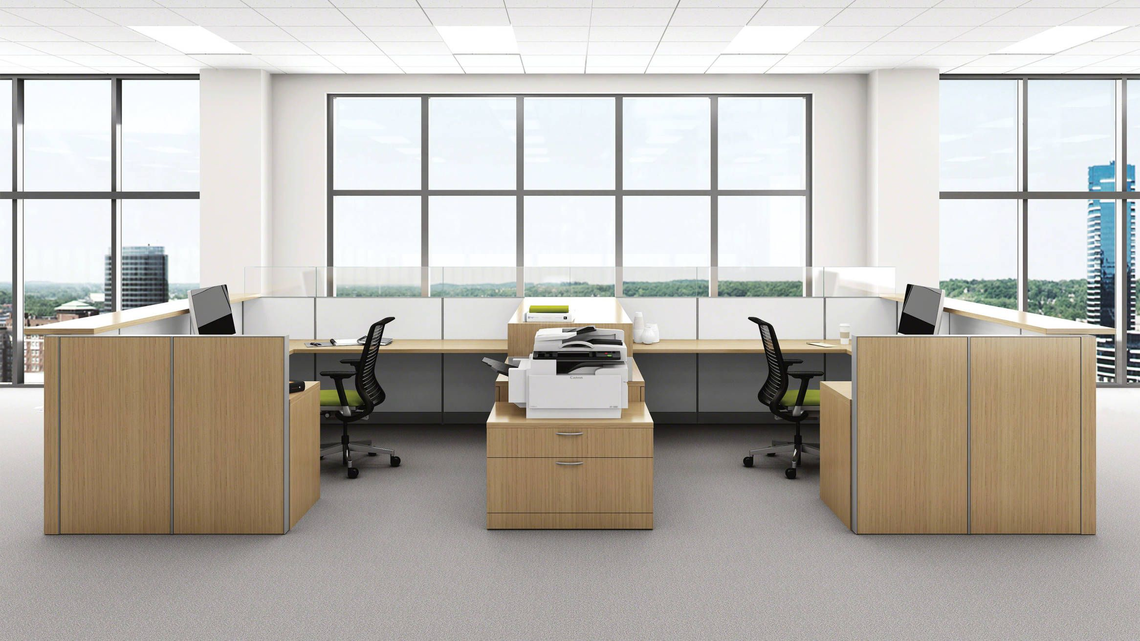 Montage Office Workstation Panel Systems Steelcase Office Storage Furniture Minimalist Desk Design Modular Office Furniture