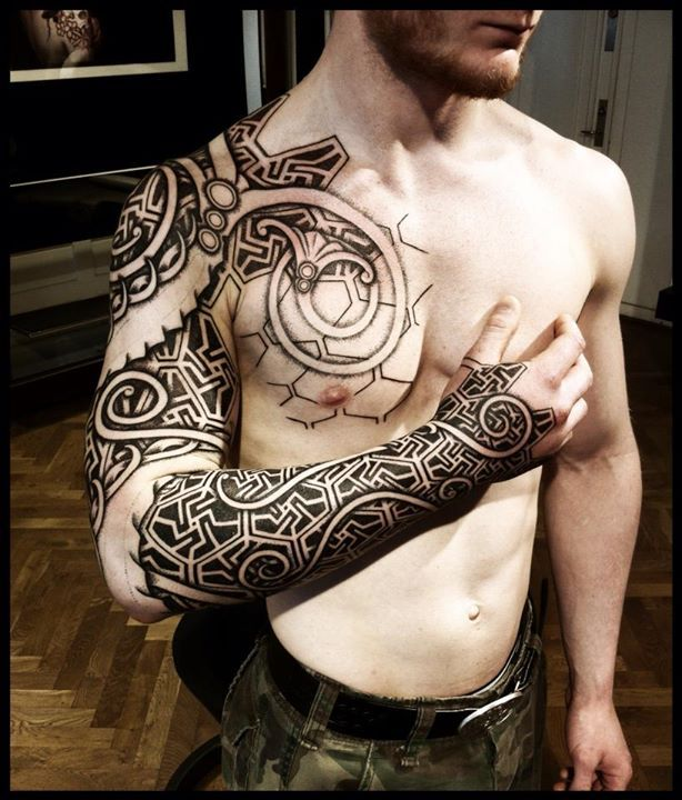 3bdd86d51 Viking tattoos by Peter Walrus Madsen (DK) | tattoos | Viking ...