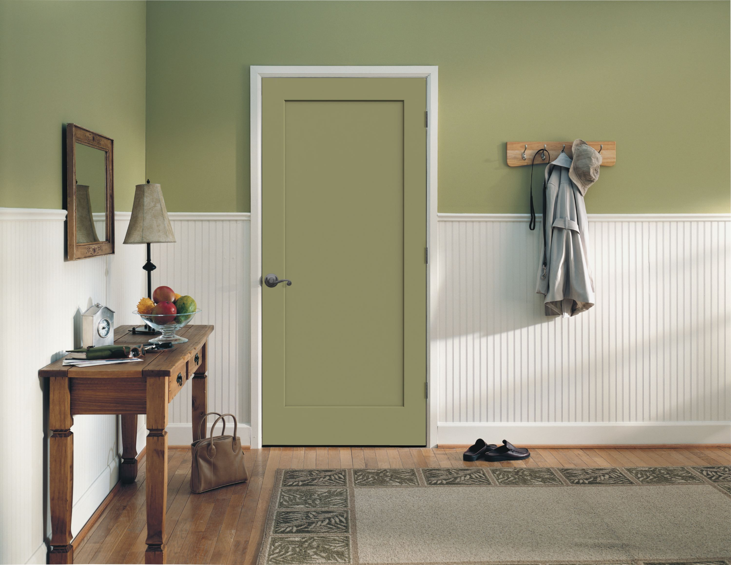 Madison Molded Interior Door. True Recessed, Flat Panel, With A Smooth  Primed Finish