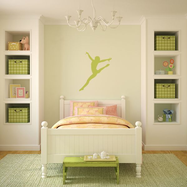 Love the bookcases either side of the bed. This would suit my girls ...
