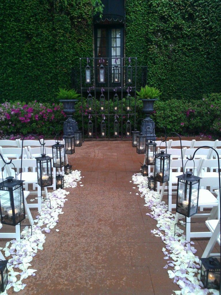 hanging lanterns wedding aisle - Google Search | Wedding Decor ...