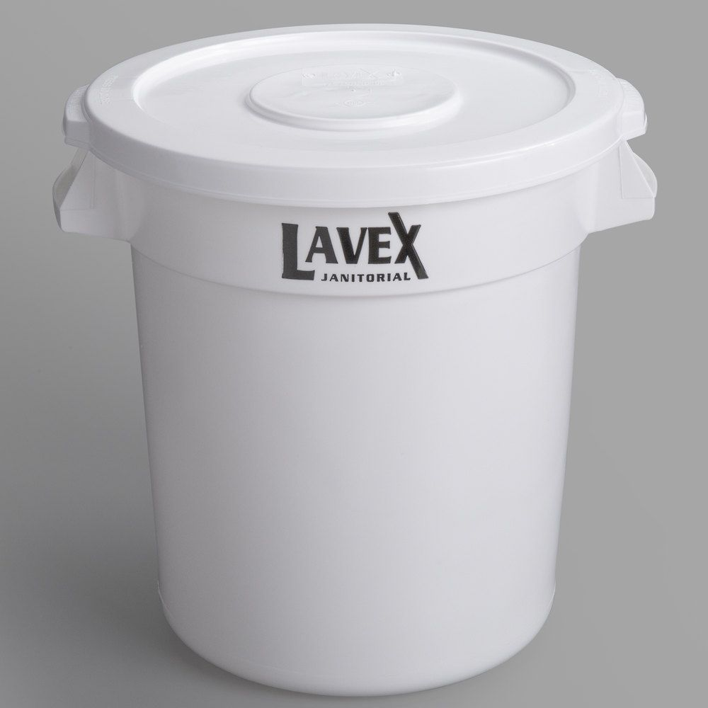 Lavex Janitorial 10 Gallon White Round Commercial Trash Can And Lid In 2021 Trash Can Food Storage Containers Janitorial 10 gallon trash can with lid